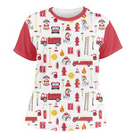 Firefighter Character Women's Crew T-Shirt (Personalized)