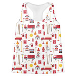 Firefighter Character Womens Racerback Tank Top (Personalized)