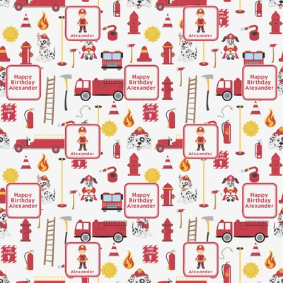 Firefighter for Kids Wrapping Paper (Personalized)