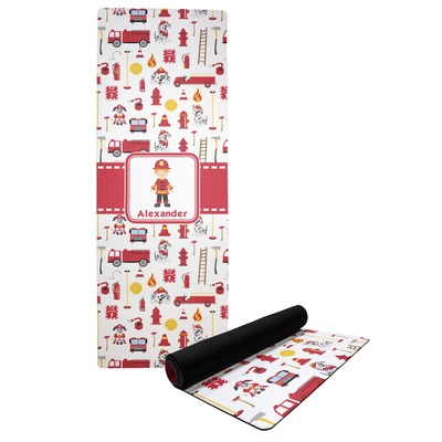 Firefighter Character Yoga Mat w/ Name or Text