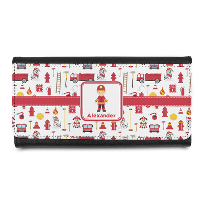 Firefighter Character Leatherette Ladies Wallet w/ Name or Text