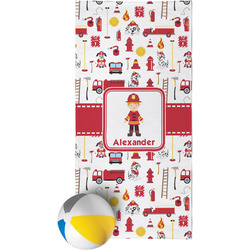 Firefighter for Kids Beach Towel (Personalized)