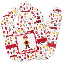 Firefighter Character Baby Bib w/ Name or Text