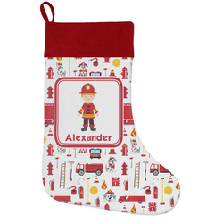 Firefighter for Kids Holiday Stocking w/ Name or Text