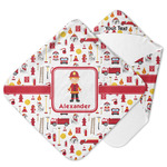 Firefighter Character Hooded Baby Towel w/ Name or Text