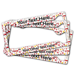Firefighter Character License Plate Frame (Personalized)