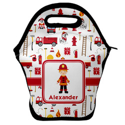 Firefighter Character Lunch Bag w/ Name or Text