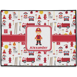 Firefighter Character Door Mat (Personalized)