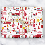 Firefighter Character Wrapping Paper (Personalized)