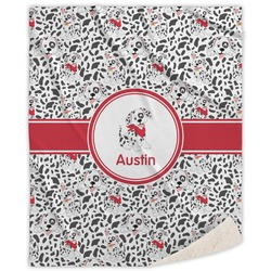 Dalmation Sherpa Throw Blanket (Personalized)