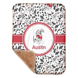 "Dalmation Sherpa Baby Blanket 30"" x 40"" (Personalized)"