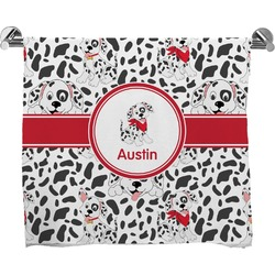 Dalmation Full Print Bath Towel (Personalized)