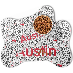 Dalmation Bone Shaped Dog Food Mat (Personalized)