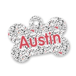 Dalmation Bone Shaped Dog Tag (Personalized)