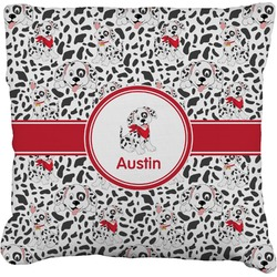"""Dalmation Faux-Linen Throw Pillow 26"""" (Personalized)"""