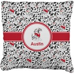 Dalmation Faux-Linen Throw Pillow (Personalized)