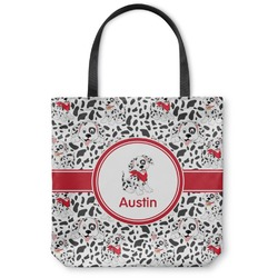 "Dalmation Canvas Tote Bag - Small - 13""x13"" (Personalized)"
