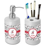 Dalmation Bathroom Accessories Set (Ceramic) (Personalized)