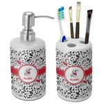 Dalmation Ceramic Bathroom Accessories Set (Personalized)