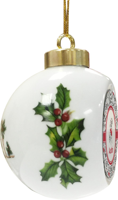 Dalmation ceramic ball ornament personalized