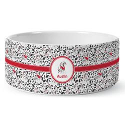 Dalmation Ceramic Dog Bowl (Personalized)
