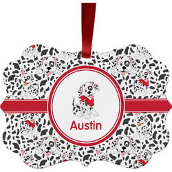Dalmation Metal Frame Ornament - Double Sided w/ Name or Text