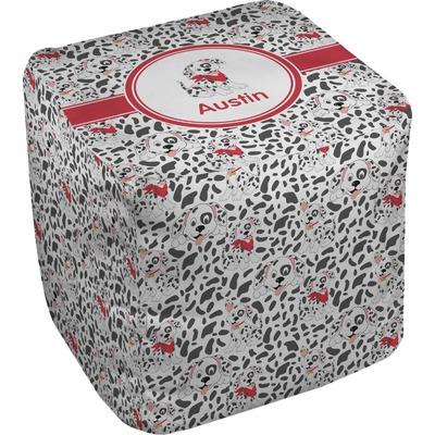 Dalmation Cube Pouf Ottoman (Personalized)