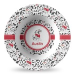 Dalmation Plastic Bowl - Microwave Safe - Composite Polymer (Personalized)