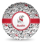 Dalmation Microwave Safe Plastic Plate - Composite Polymer (Personalized)