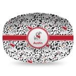 Dalmation Plastic Platter - Microwave & Oven Safe Composite Polymer (Personalized)