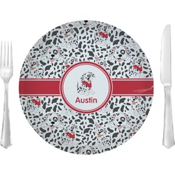 "Dalmation 10"" Glass Lunch / Dinner Plates - Single or Set (Personalized)"