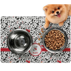 Dalmation Dog Food Mat - Small w/ Name or Text