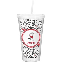 Dalmation Double Wall Tumbler with Straw (Personalized)
