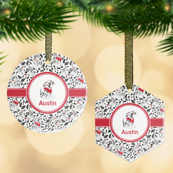 Dalmation Flat Glass Ornament w/ Name or Text