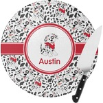 Dalmation Round Glass Cutting Board (Personalized)