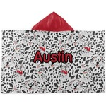 Dalmation Kids Hooded Towel (Personalized)
