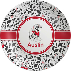"Dalmation Melamine Plate - 8"" (Personalized)"