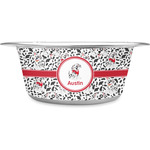 Dalmation Stainless Steel Dog Bowl (Personalized)