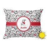 Dalmation Outdoor Throw Pillow (Rectangular) (Personalized)