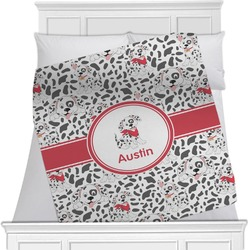 "Dalmation Fleece Blanket - Twin / Full - 80""x60"" - Single Sided (Personalized)"