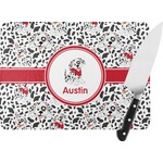 Dalmation Rectangular Glass Cutting Board (Personalized)