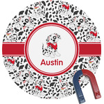 Dalmation Round Magnet (Personalized)
