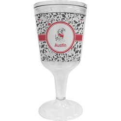 Dalmation Wine Tumbler - 11 oz Plastic (Personalized)