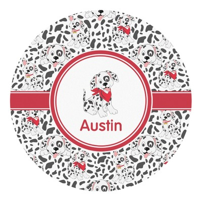 Dalmation Round Decal (Personalized)