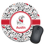 Dalmation Round Mouse Pad (Personalized)