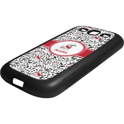 Dalmation Rubber Samsung Galaxy 3 Phone Case (Personalized)