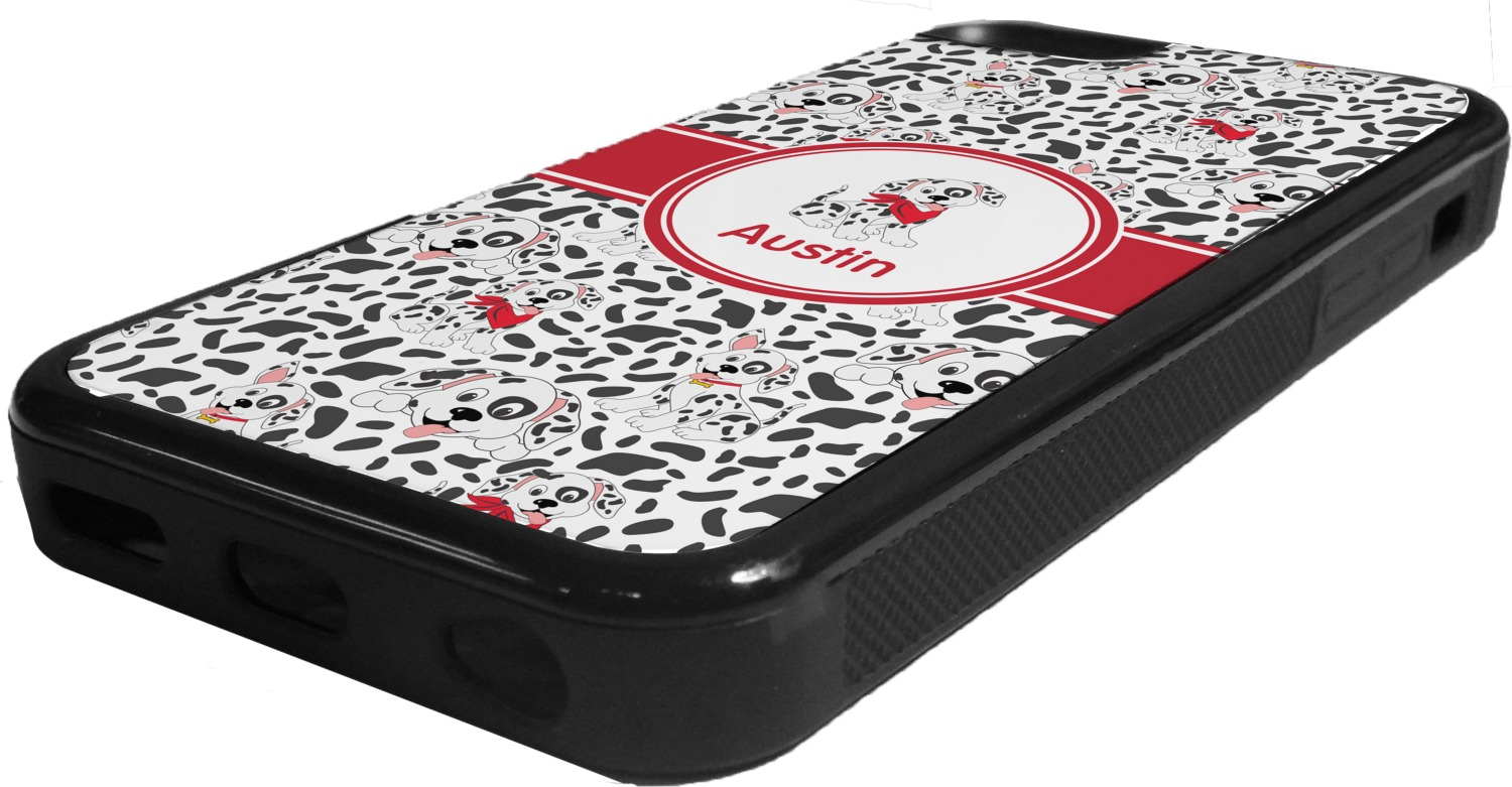 iphone 5c custom case dalmation rubber iphone 5c phone personalized 3105