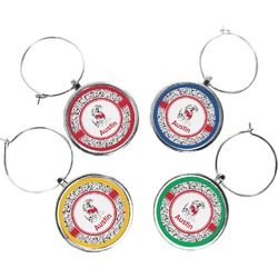Dalmation Wine Charms (Set of 4) (Personalized)