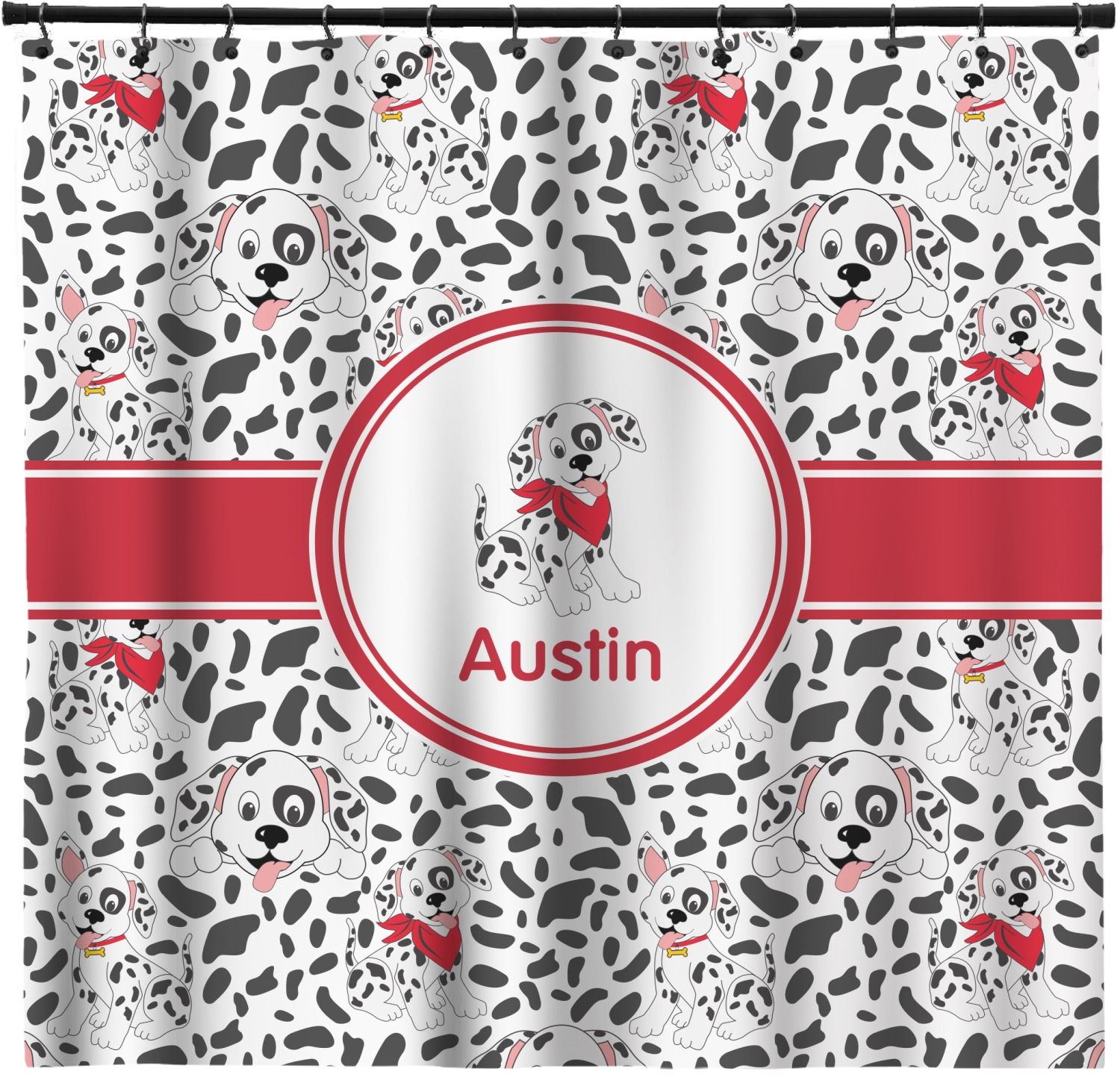Dalmation Shower Curtain Custom Width Height Personalized Youcustomizeit