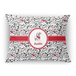 Dalmation Rectangular Throw Pillow Case (Personalized)